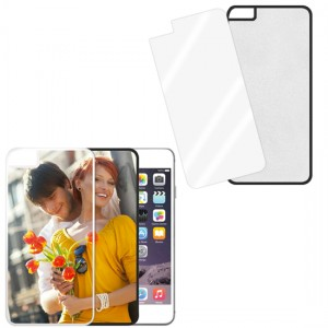 Cover nera con piastrina stampabile - IPhone 6 Plus