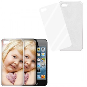 Cover bianca con piastrina stampabile - IPhone 5, 5S