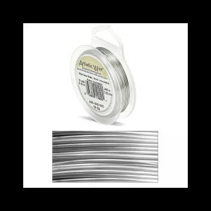Filo artistic wire argento in acciaio inossidabile Ø 1.02mm - 9m