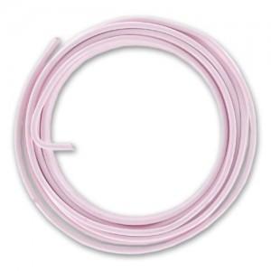 Filo alluminio tondo liscio Ø 2 mm - Rosa pastello