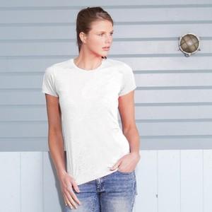 T-shirt Donna bianca per Sublimazione. Confezione da 6 pezzi