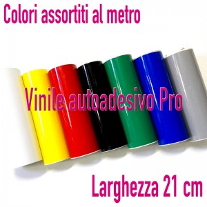 VINILE PRO - LARGH 21 CM - VENDUTO AL MT - LOTTO COLORI ASSORTITI - 50% SCONTO