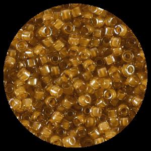 Perline in vetro Miyuki Delica Lined Topaz Amber ab 11/0 - 10g