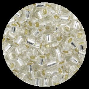 Perline in vetro Miyuki Delica Silver Lined Crystal 8/0 - 10g