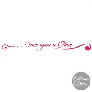 "STENCIL HOME DECO 60x7 CM - BORDURA ""Once upon a time"""