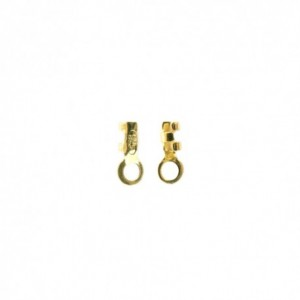 Terminale per catena cobra in argento 925 placcato oro 21 kt 0.8 mm - 40pz