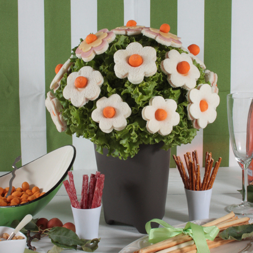 Kit fiori e foglie_bouquet di tramezzini
