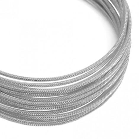 Filo alluminio tondo zigrinato Ø 2 mm - Argento
