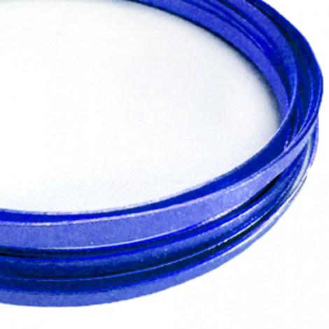 Filo alluminio piatto liscio 3,5 x 1 mm - Blu Royal