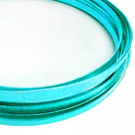 Filo alluminio piatto liscio 3,5 x 1 mm - Turchese