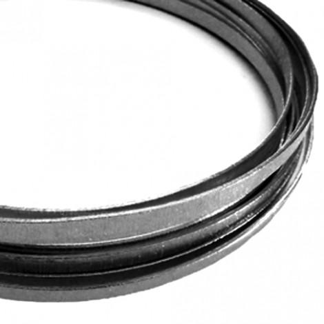 Filo alluminio piatto zigrinato 3,5 x 1 mm - Grigio