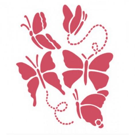 Stencil stamperia farfalle piccole per decoupage