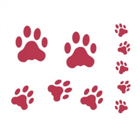 Stencil stamperia impronta gatto per decoupage