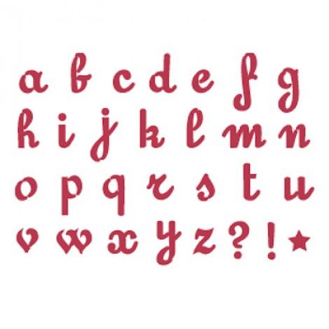 Stencil stamperia alfabeto corsivo per decoupage