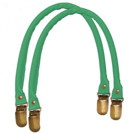 Manici in similpelle a bretella per borse colore verde