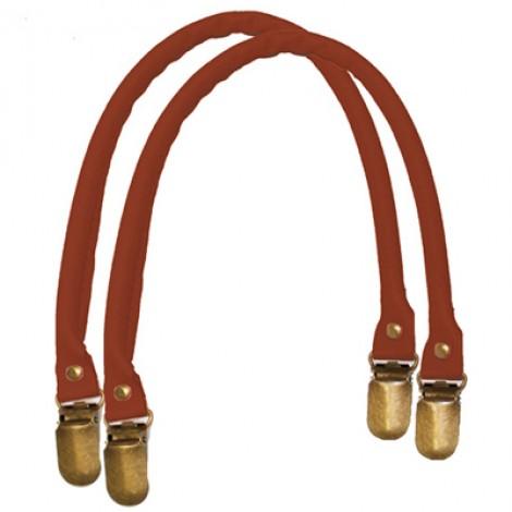 Manici in similpelle a bretella per borse colore marrone