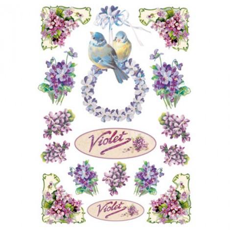 Foglio di carta di riso A4 violet