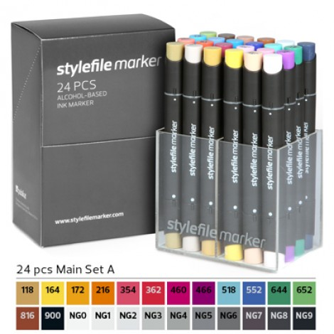 Pennarelli Stylefile Marker 24 pezzi set A