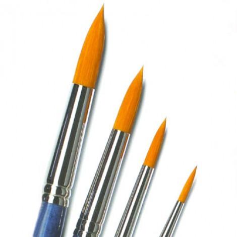 Pennello in sintetico ambra tondo