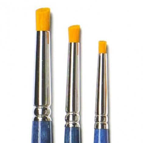 Pennello tondo angolare in sintetico ambra