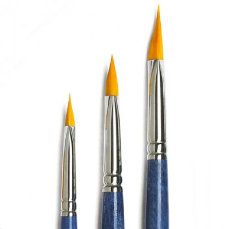 Pennello calligrafico in sintetico ambra