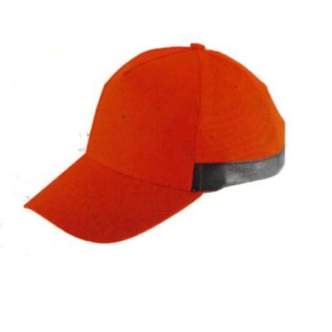 Cappellino 5 pannelli in tessuto alta visibilità. Confezione da 10 pezzi.