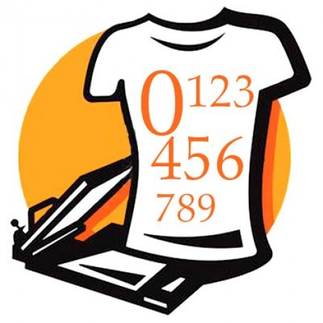 Numeri termosaldabili Intagliati per t-shirt sportive