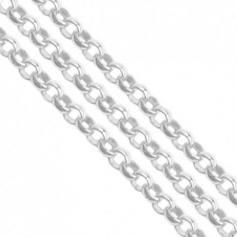 Catena rolò colore argento 3.8 mm - 1 mt