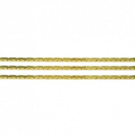 Catenina cobra in argento 925 placcato oro 21kt 0.8 mm - 1mt