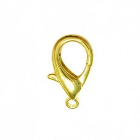 Chiusura moschettone color oro 12x6 mm - 20pz