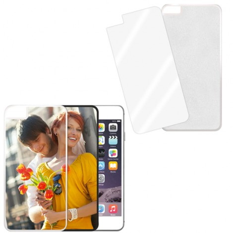 Cover bianca con piastrina stampabile - IPhone 6 Plus