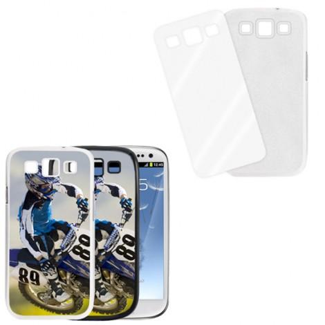 Cover bianca con piastrina stampabile - Samsung Galaxy S3