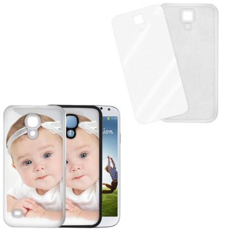 Cover bianca con piastrina stampabile - Samsung Galaxy S4