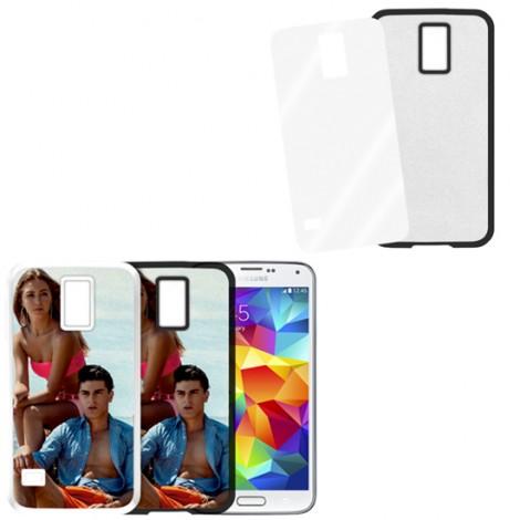 Cover nera con piastrina stampabile - Samsung Galaxy S5