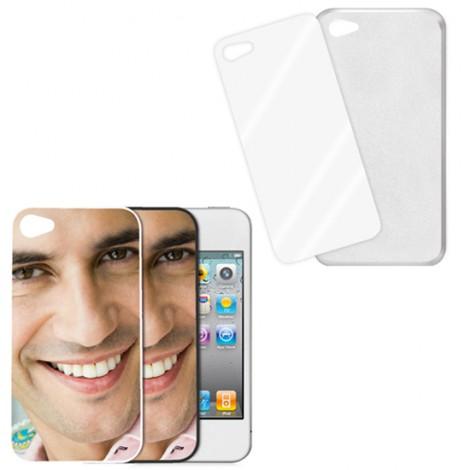Cover trasparente con piastrina stampabile - IPhone 4, 4 S