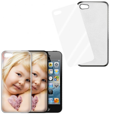 Cover nera con piastrina stampabile - IPhone 5, 5 S