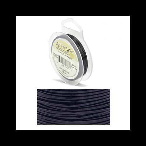 Filo artistic wire black Ø 0.64mm - 13.7m