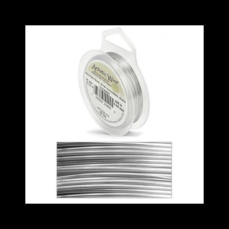 Filo artistic wire argento in acciaio inossidabile Ø 0.64mm - 13.7m