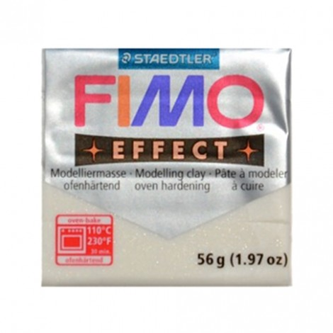 FIMO EFFECT GLITTER BIANCO 052 - 56 GR