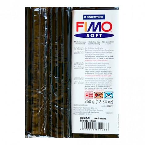 FIMO SOFT NERO 9 - 350 GR