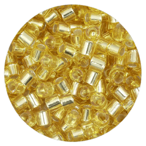 Perline in vetro Miyuki Delica Silver Lined Gold 8/0 - 10g