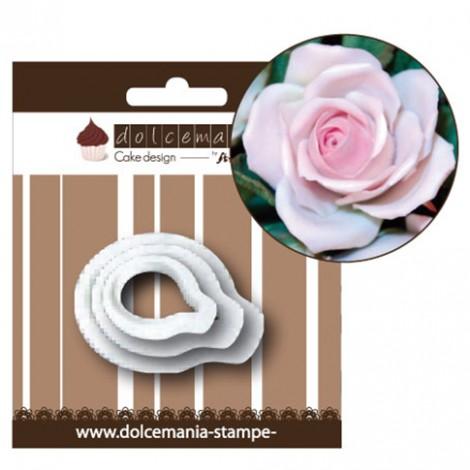 Set 3 tagliapasta per petali di rosa