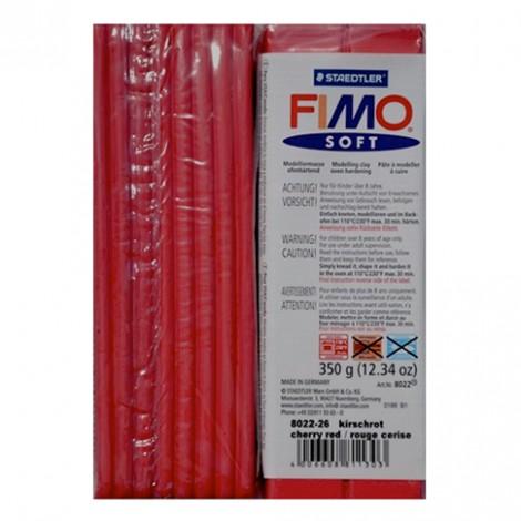 FIMO SOFT ROSSO CILIEGIA 26 - 350 GR