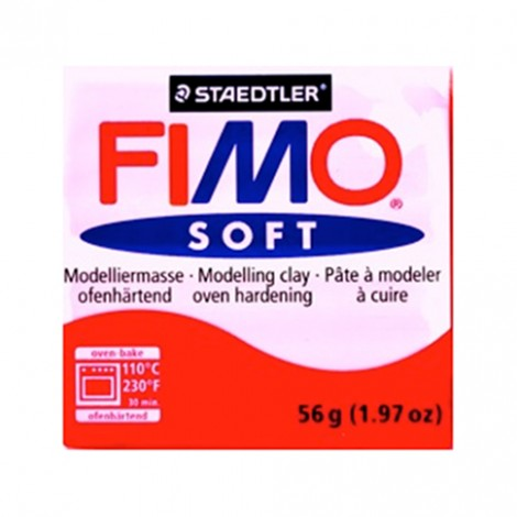 FIMO SOFT ROSSO INDIANO 24 - 56 GR
