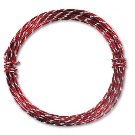 Filo alluminio tondo diamantato Ø 2 mm - Rosso