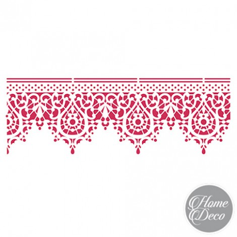 STENCIL HOME DECO 38x15 CM - BORDURA PIZZO
