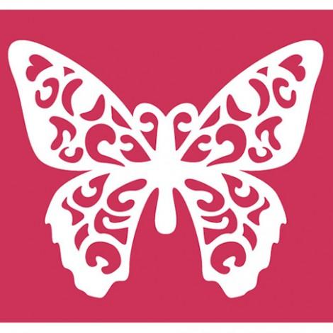 Doppio stencil 25x21 cm farfalla for Stencil da stampare per cucina