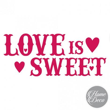 Stencil HOME DECO 38x15 cm - Love is Sweet
