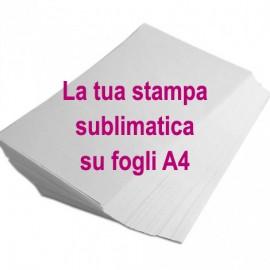 SERVIZIO STAMPA SUBLIMAZIONE - FOGLIO A4