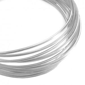 Filo alluminio tondo liscio Ø 2 mm - Argento